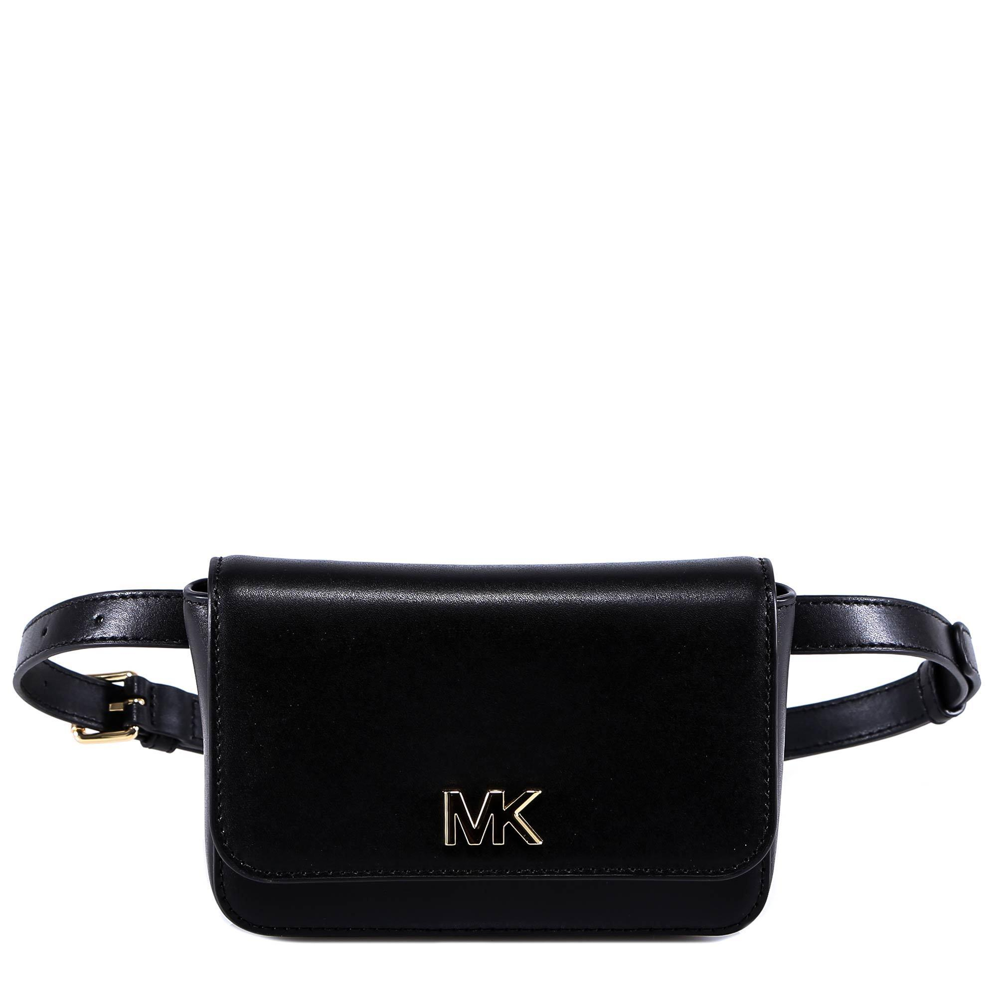 3d58e0308e6010 MICHAEL Michael Kors Mott Leather Belt Bag in Black - Lyst