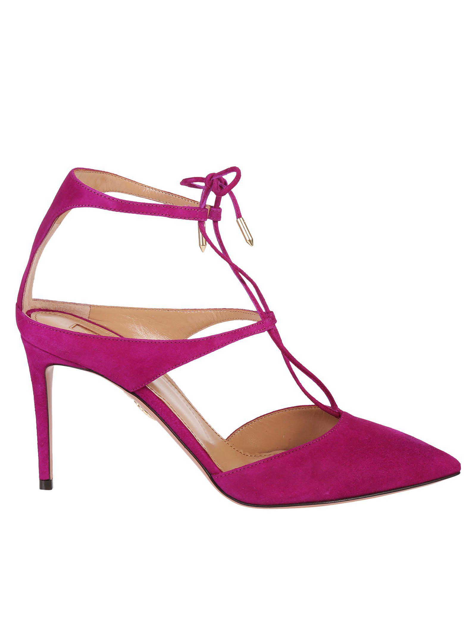 Aquazzura Manhattan 85 Pompes - Rose Et Violet zBAKc