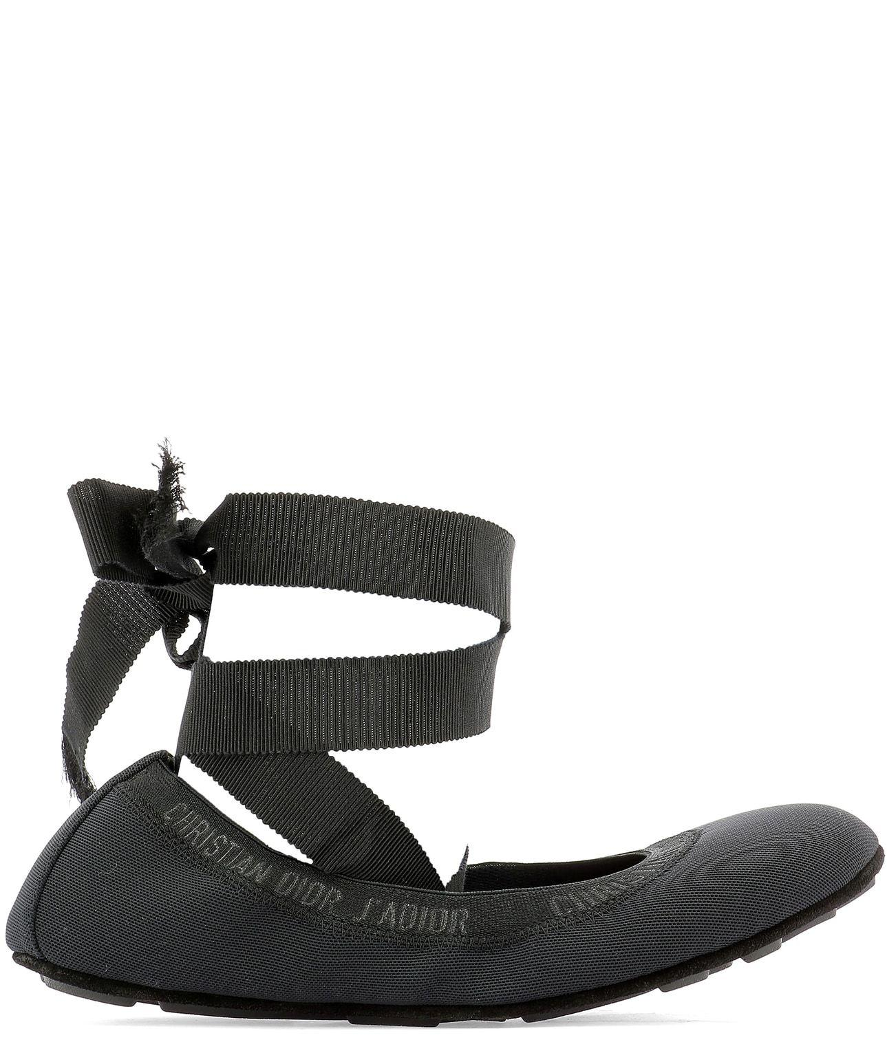 Dior Academy Lace-up Ballerina Shoes in