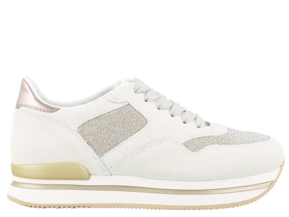 6b8e3d5a32f Lyst - Hogan H222 Glitter Sneakers in White