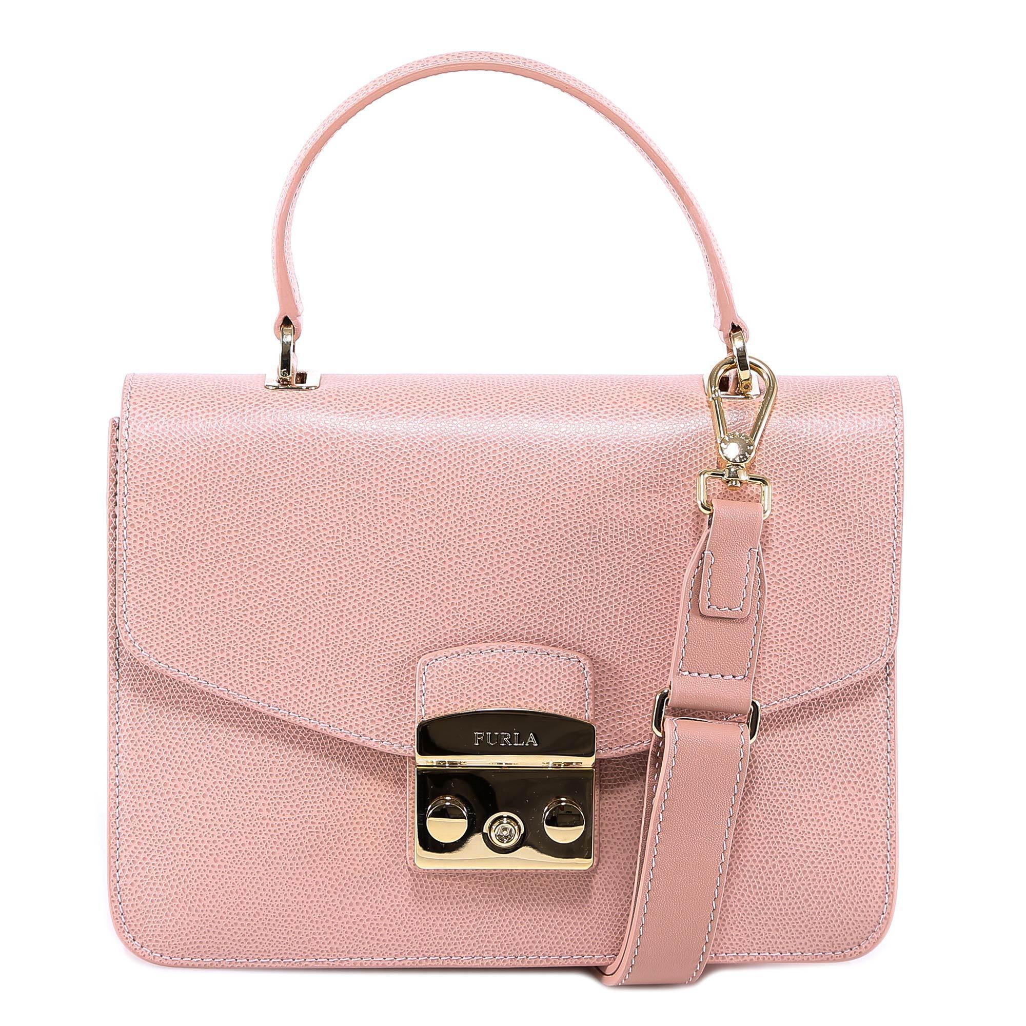 09ed28e5c1ae Furla - Pink Metropolis S Logo Clasp Bag - Lyst. View fullscreen