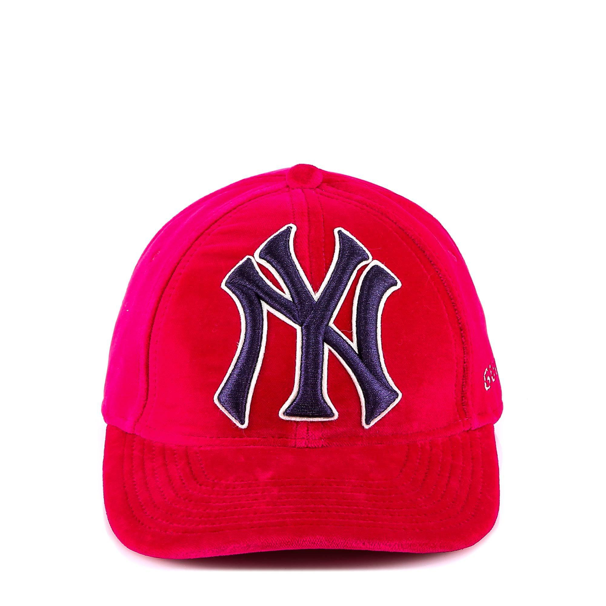 Gucci New York Yankees Embroidered Cap in Pink for Men - Lyst 06253643f628