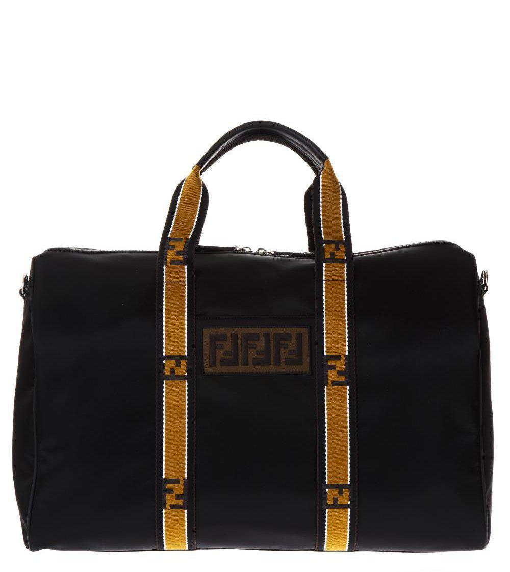 530ac82fa8fe Fendi Logo Duffle Bag in Black - Lyst