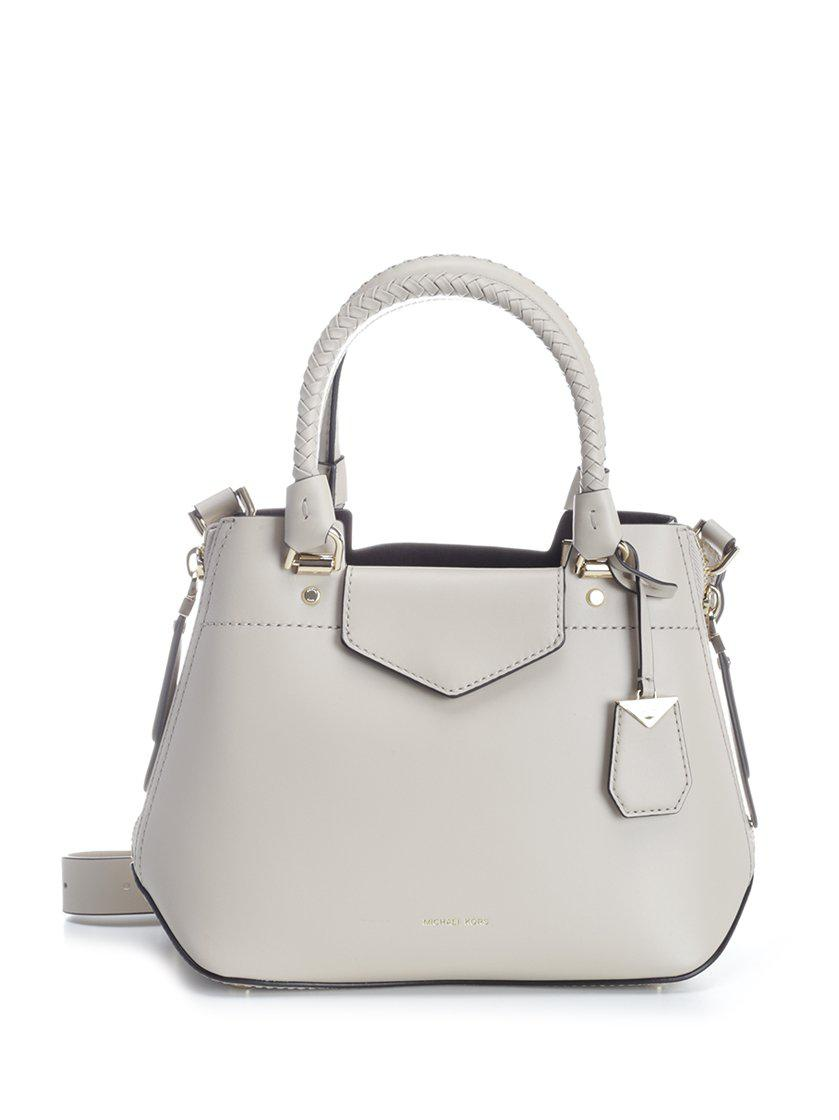 a6fec3bbd008 ... switzerland lyst michael michael kors blakely satchel bag in natural  3696a a322e