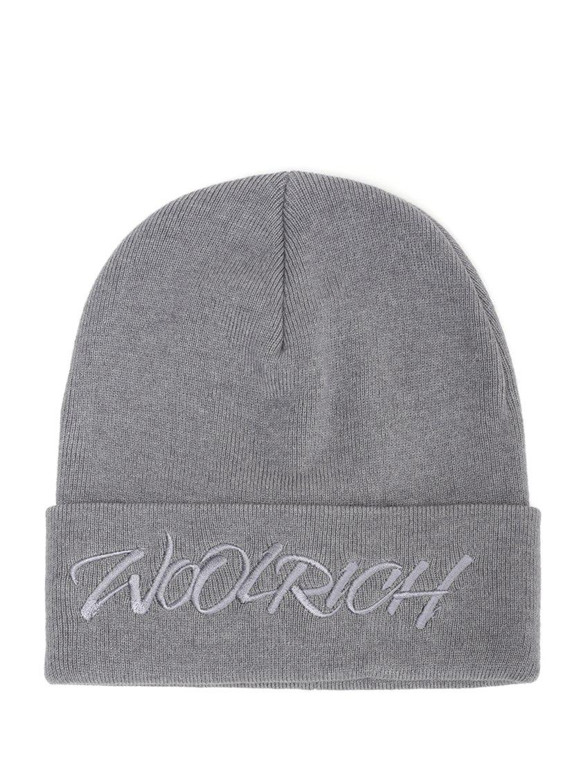 con de gris Woolrich logo Gorro bordado Lyst HxqfAfvPw