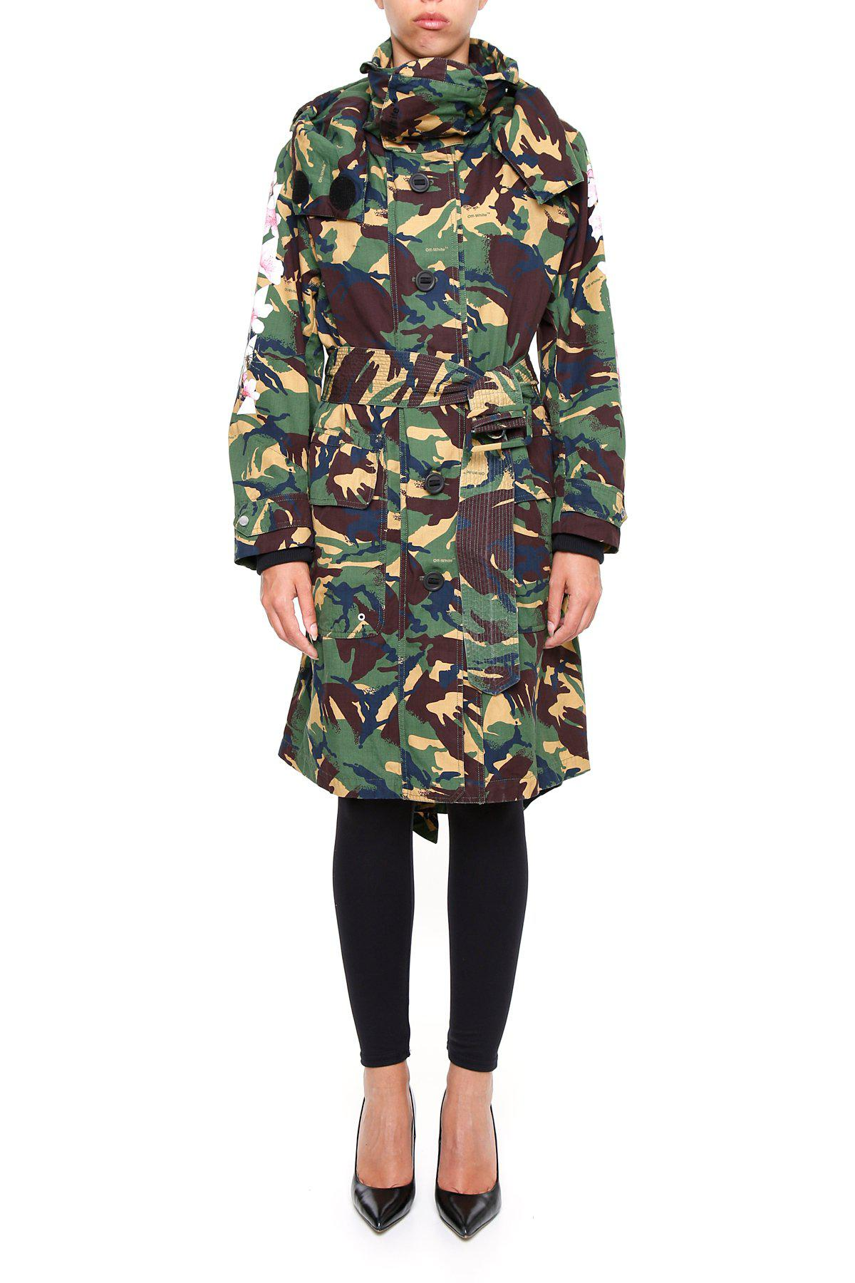 e36f0b73bd524 Lyst - Off-White c/o Virgil Abloh Camouflage Parka Coat