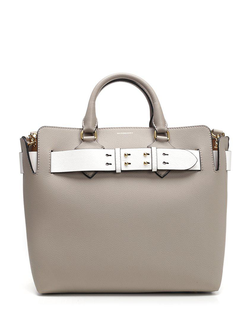 1856e926abcd Lyst - Burberry Medium Top Handle Bag in Gray