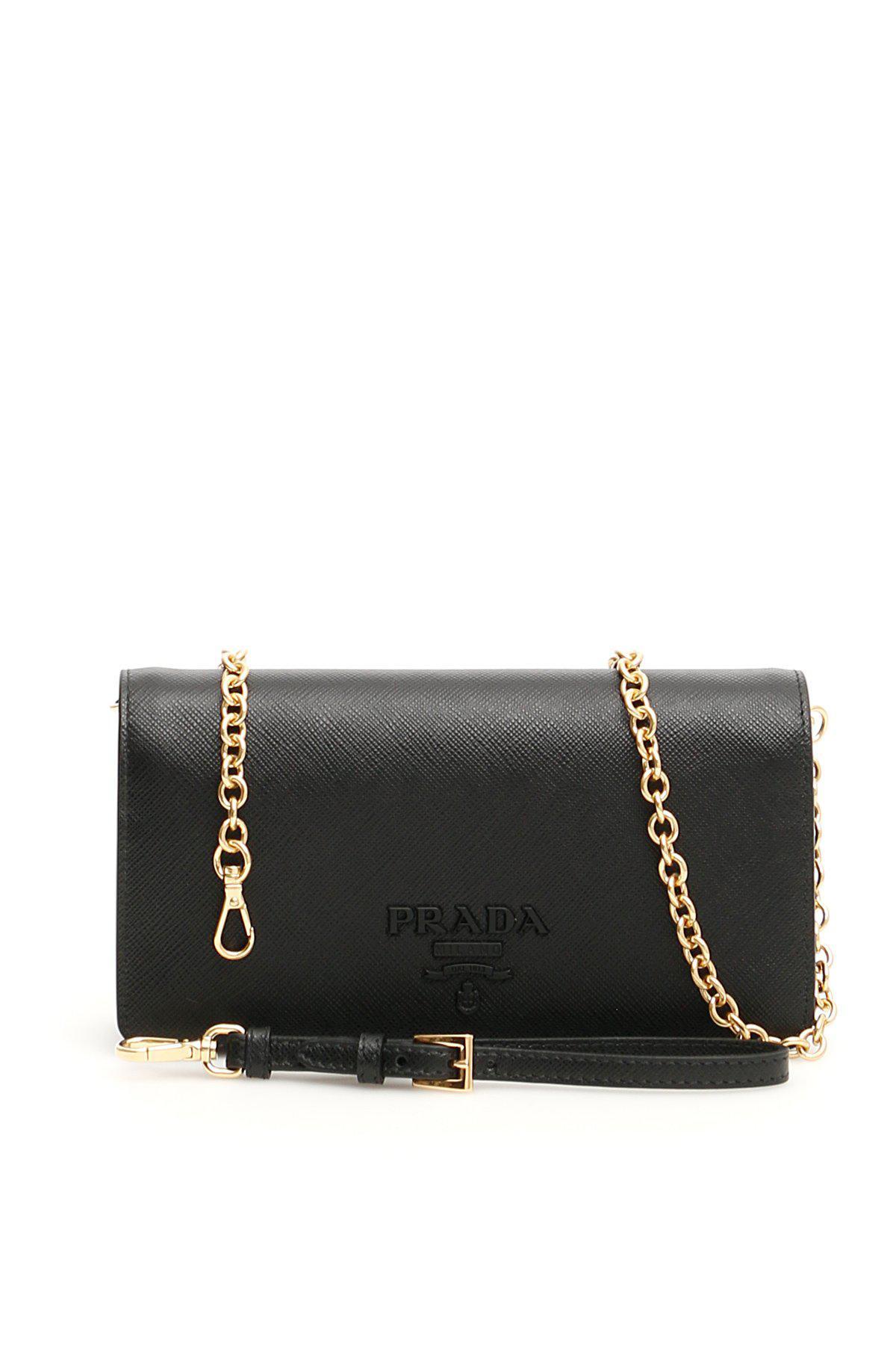 Prada Monochrome Mini Bag in Black - Lyst 38356eb6d2c21