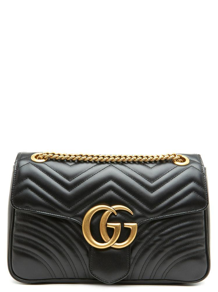 fd196c575b0e Lyst - Gucci Gg Marmont Matelasse Shoulder Bag in Black - Save 24%