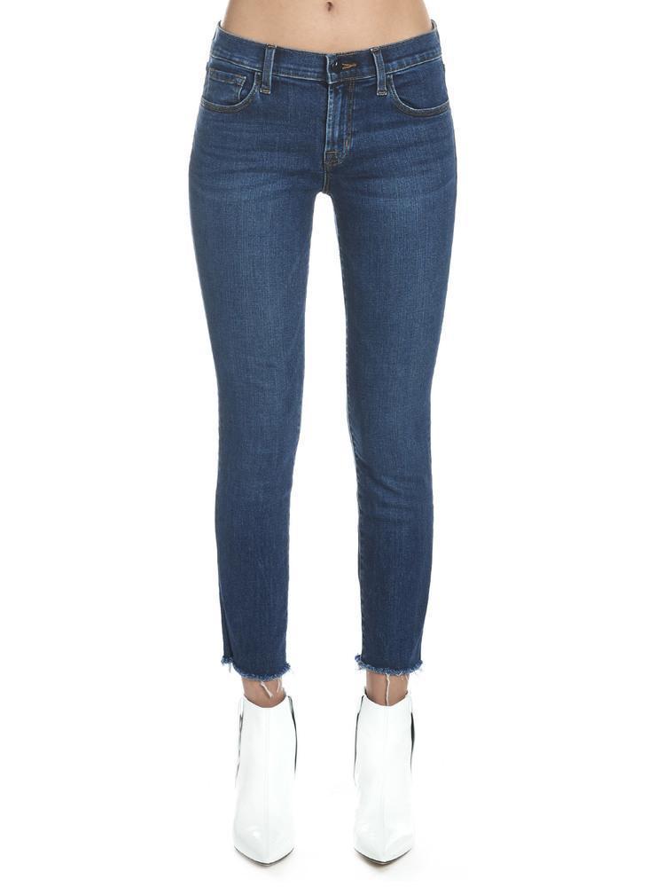 cdf4c3dc2d59 J Brand Cropped Jeans in Blue - Lyst