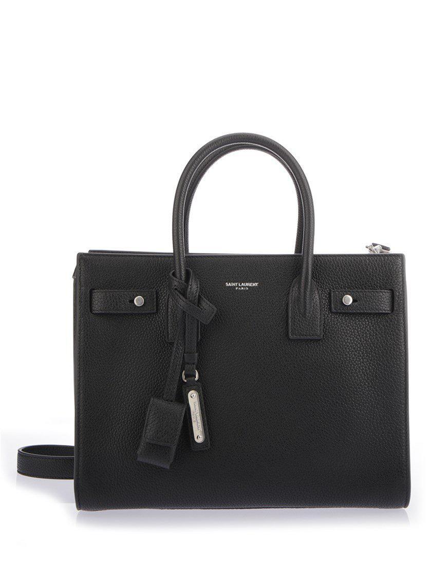 8a109321fe Saint Laurent Sac De Jour Small Tote Bag in Black - Lyst