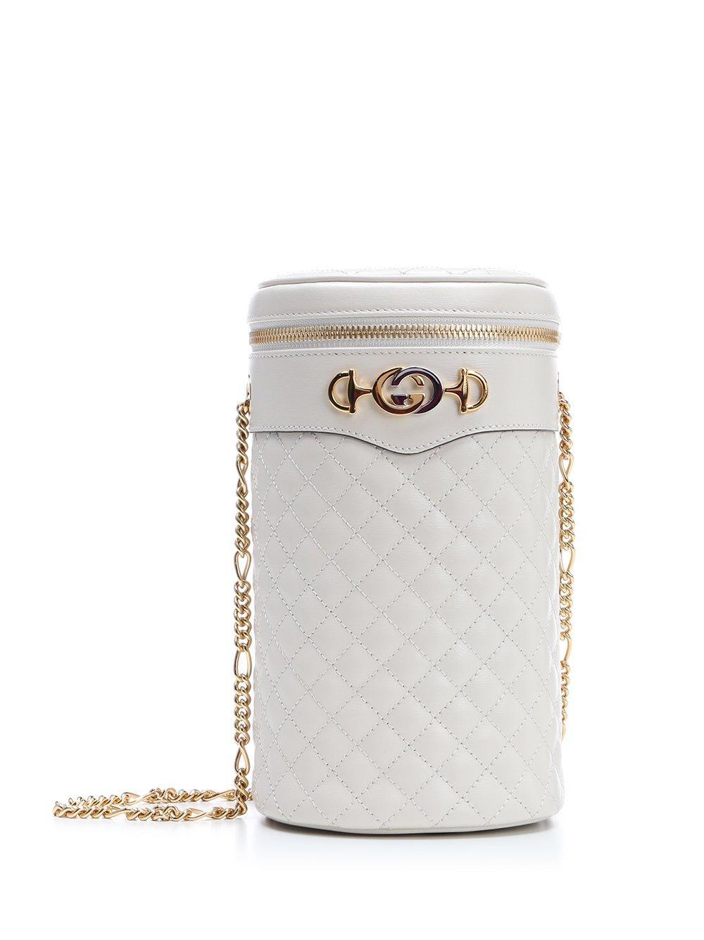 6e3fecdd6598 Gucci Quilted Horsebit Belt Bag in White - Lyst