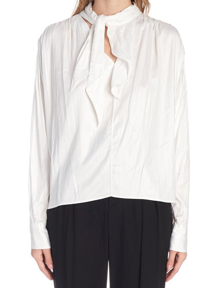 092303366b1 Lyst - Isabel Marant Pussy Bow Blouse in White