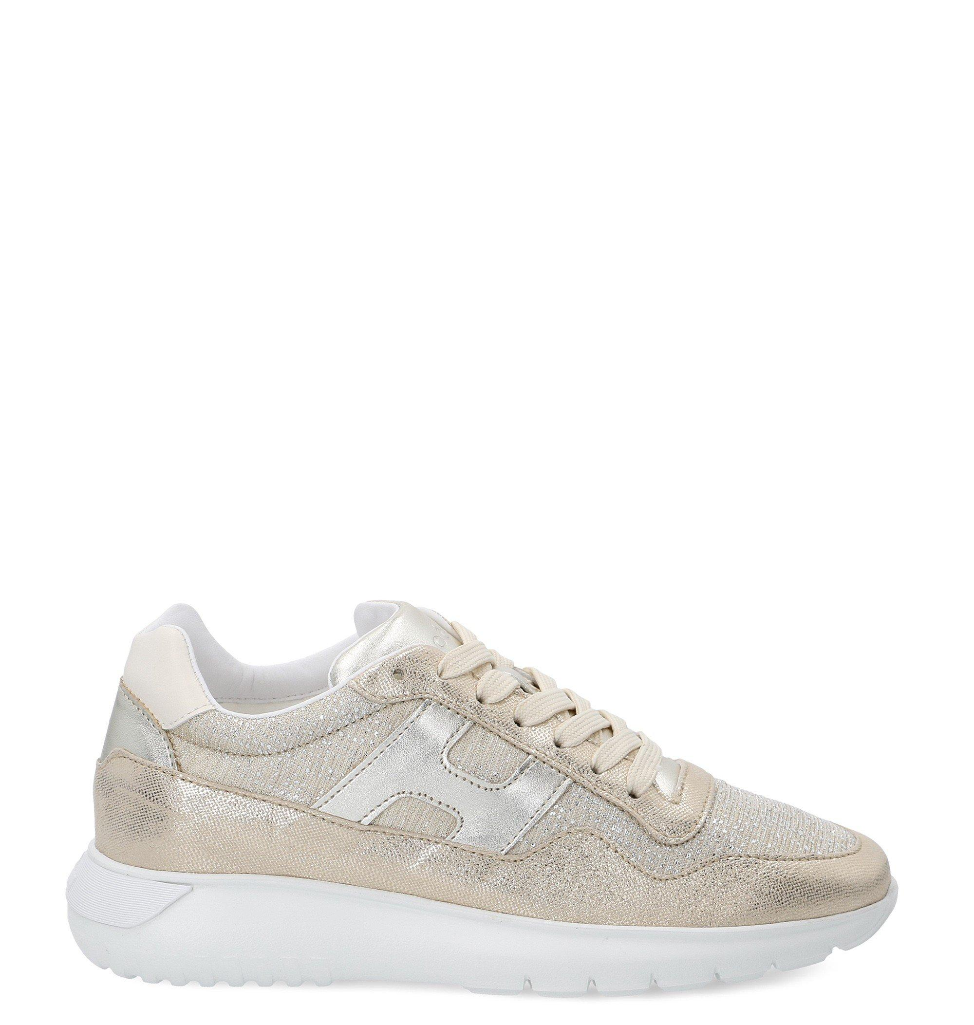 Hogan Leather H371 Interactive Sneakers in Gold (Metallic) - Lyst