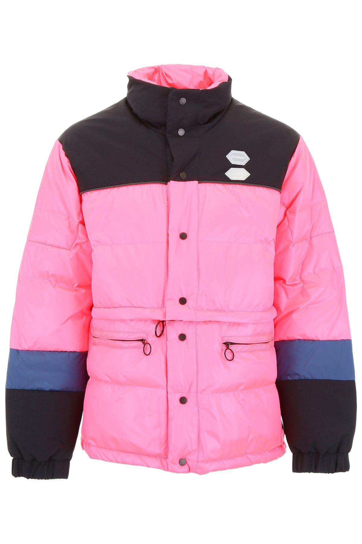 2e3f7cb479ecf Lyst - Off-White c/o Virgil Abloh Bicolour Puffer Jacket in Pink for Men