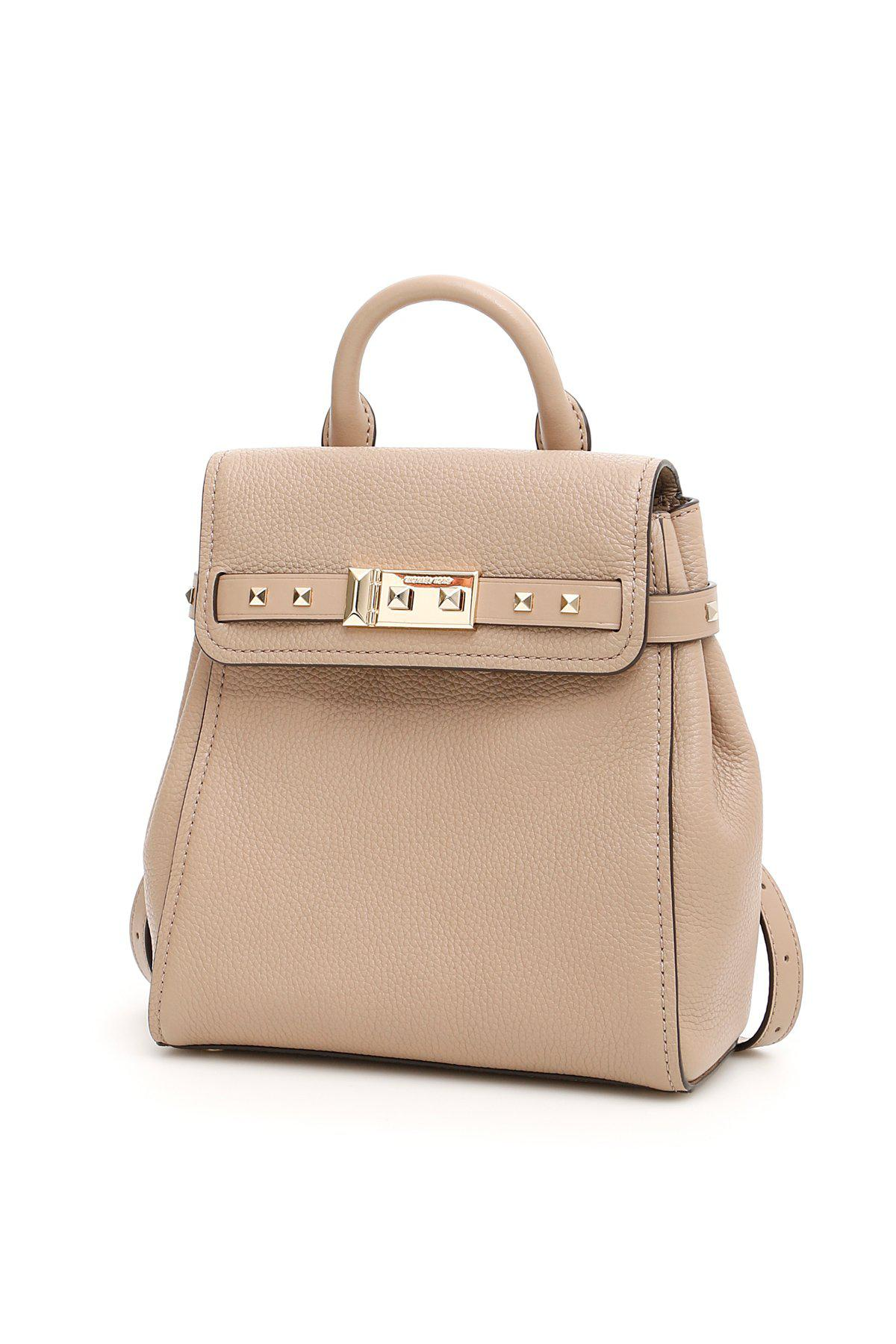 6f525c605a18 Lyst - MICHAEL Michael Kors Addison Small Backpack in Natural