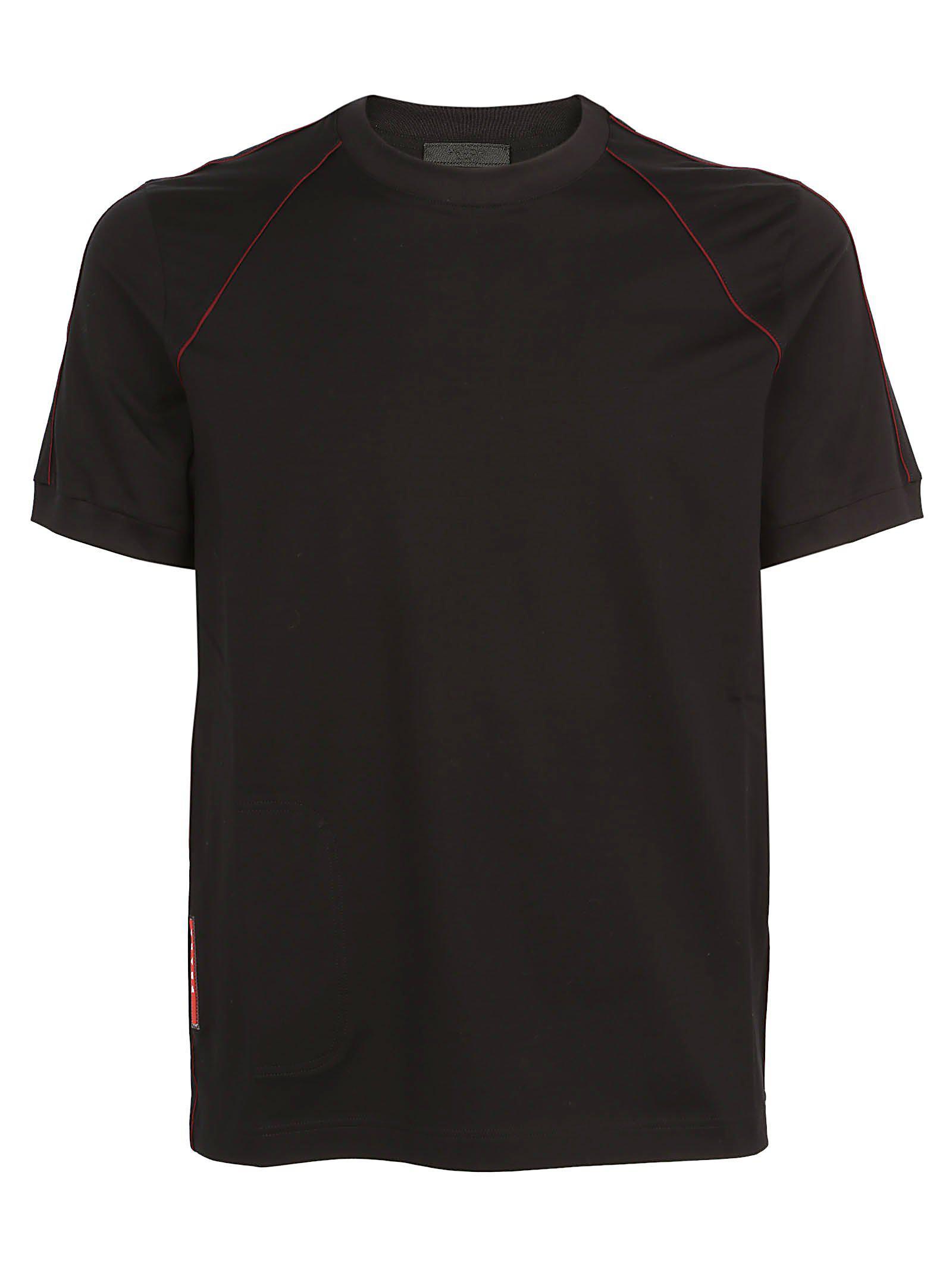 6eee2c3b279f Lyst - Prada Classic Logo T-shirt in Black for Men