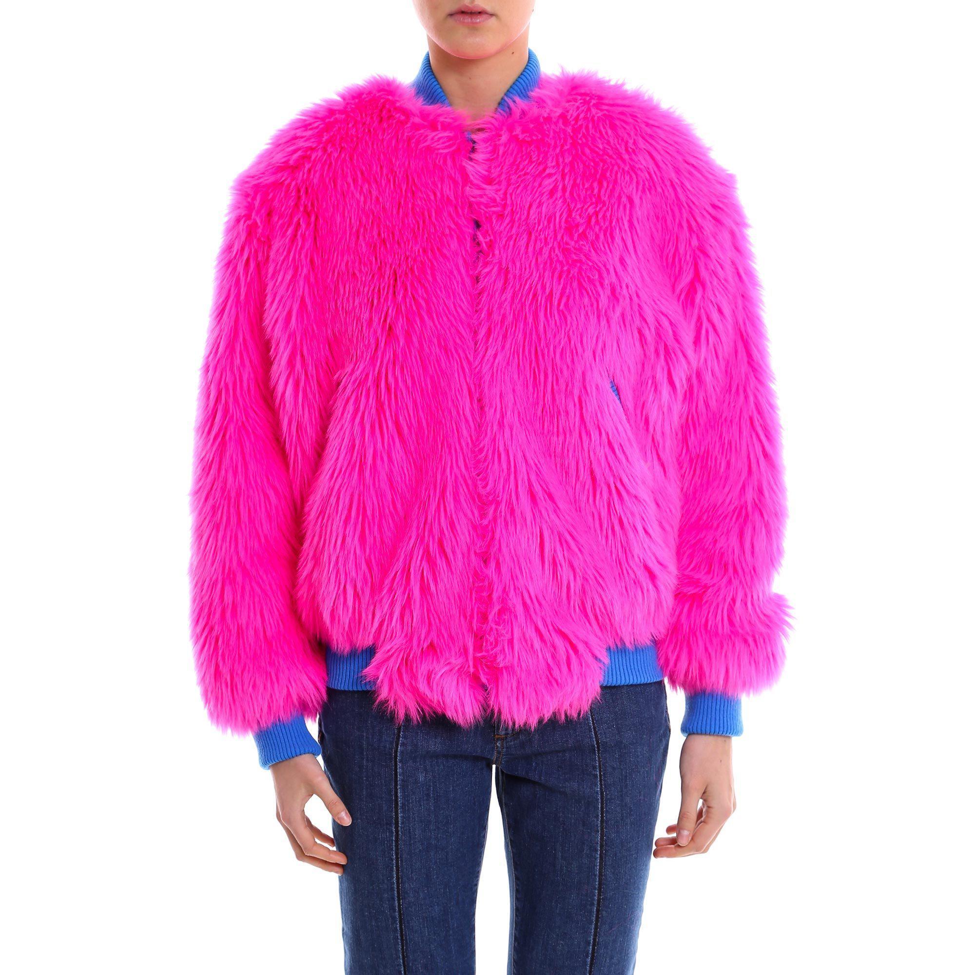Lyst Alberta Pink Ferretti Faux Fur In Jacket SzMVGpUq