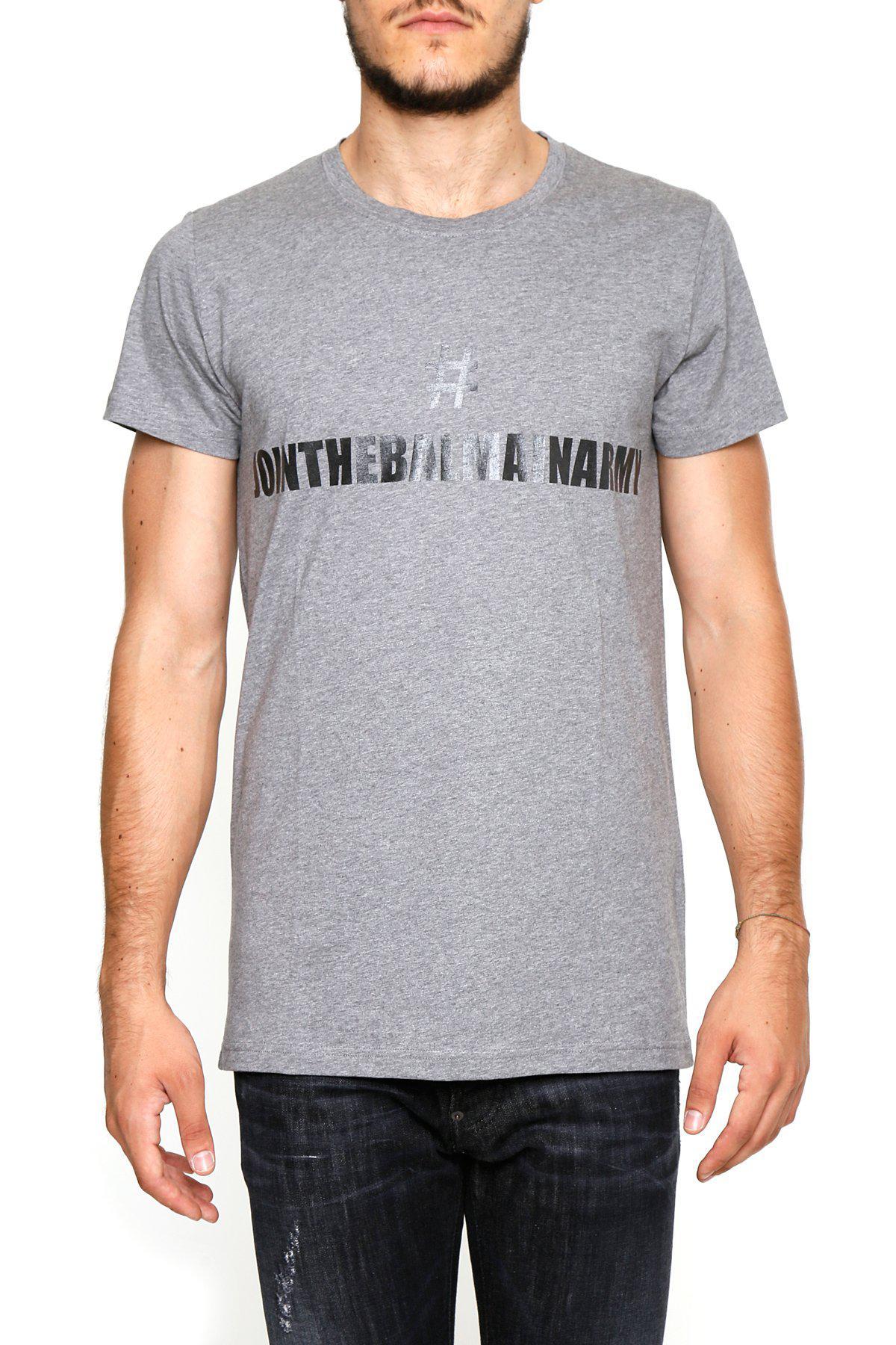 0f6a9ff4 Balmain Logo T-shirt in Gray for Men - Lyst