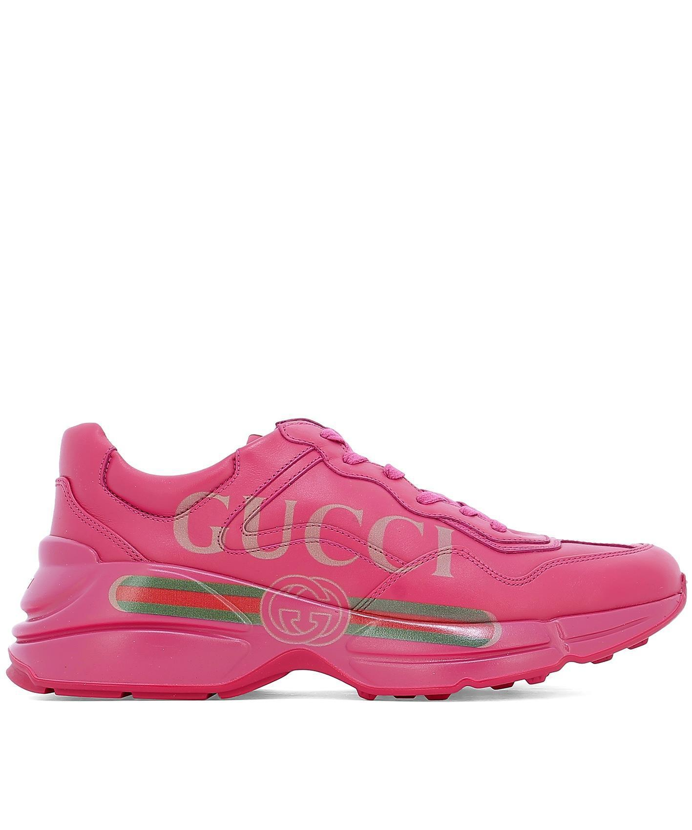 6c0fcd45a52 Gucci Rhyton Sneakers in Pink for Men - Lyst