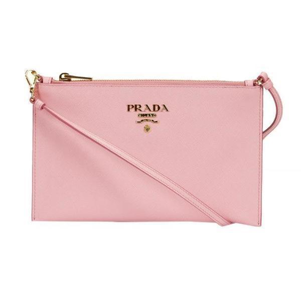 bc45e8831f63b3 Prada Zip Clutch Bag in Pink - Lyst