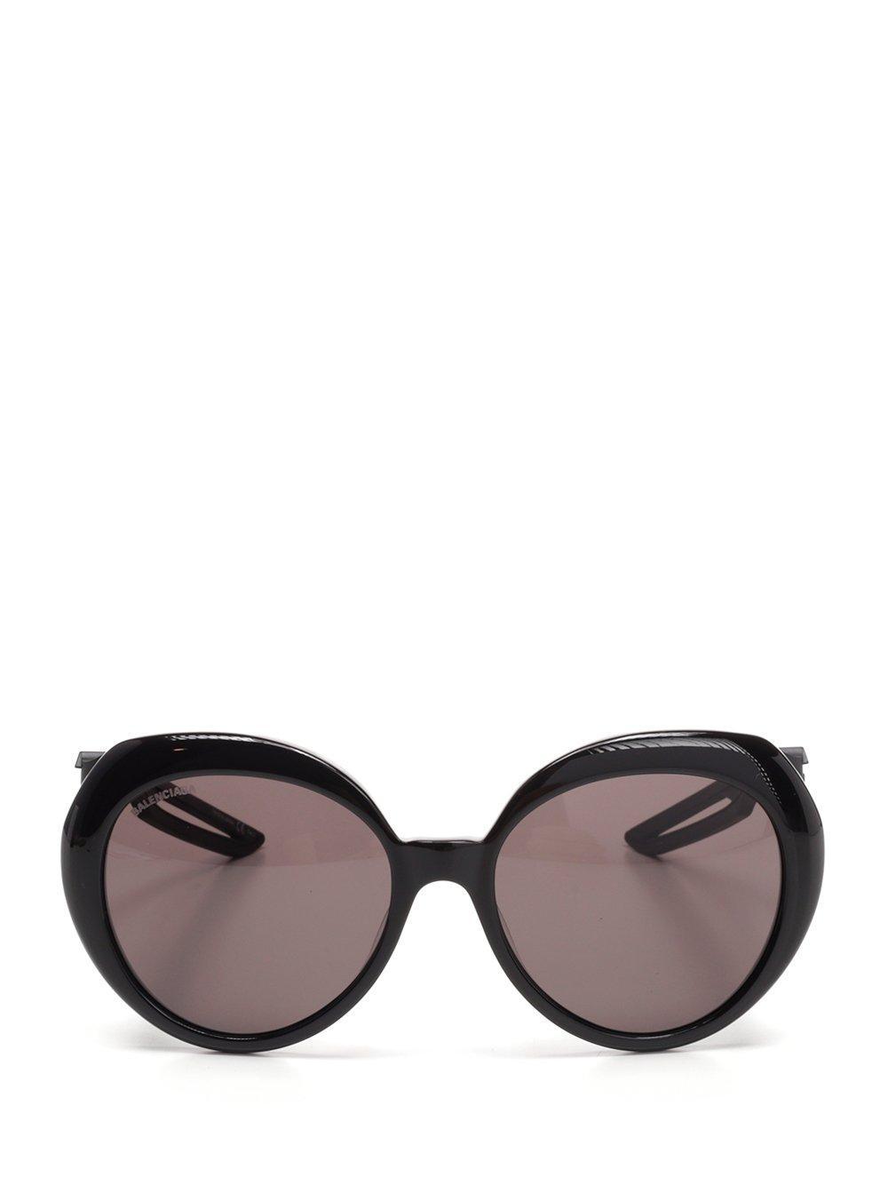 0cfea674a6e Lyst - Balenciaga Round Frame Sunglasses in Black