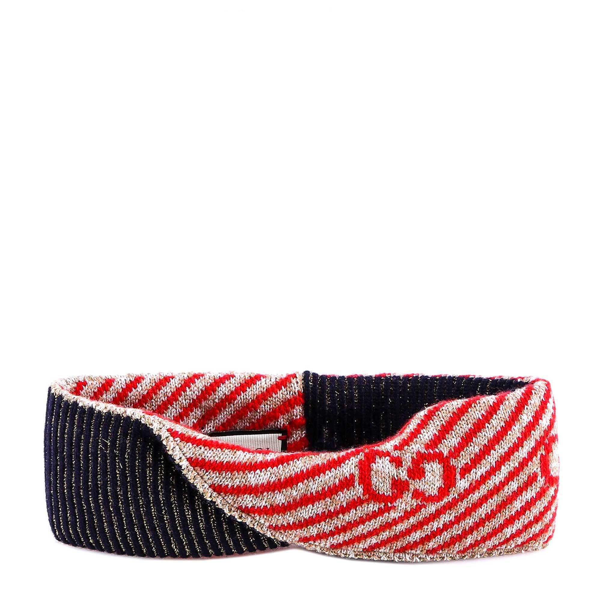 bc3463031cd Gucci Multicoloured Knitted Glitter Headband in Red - Save ...