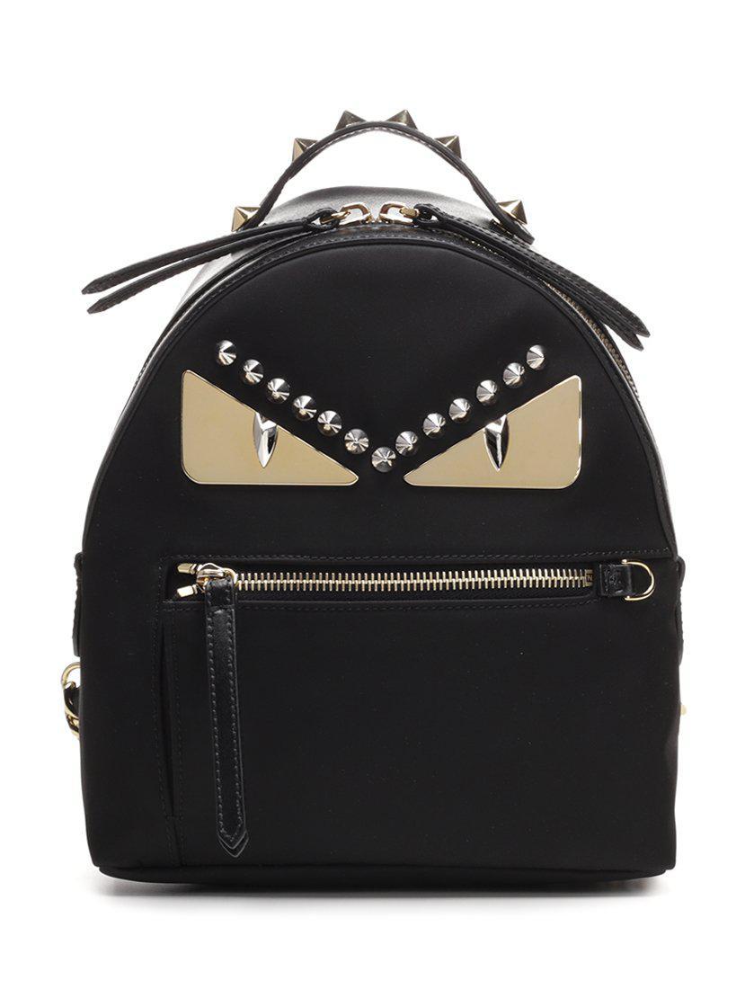 42dc2965689c Fendi Bag Bugs Mini Backpack in Black - Lyst