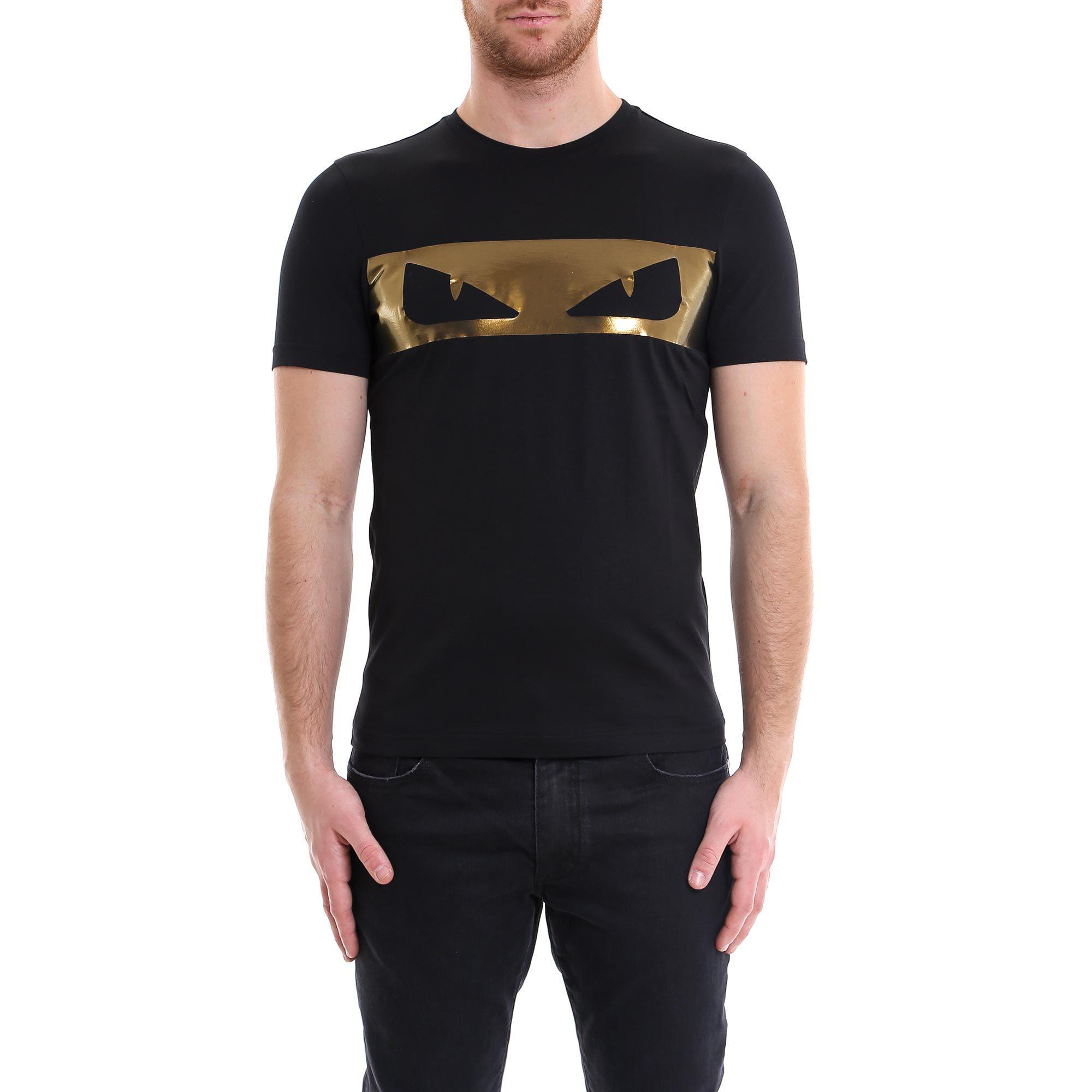 afce5b365 Lyst - Fendi Bag Bug Eyes T-shirt in Black for Men