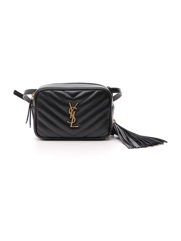 Lyst - Saint Laurent Monogram Quilted Belt Bag in Black fd2004e5d5a38