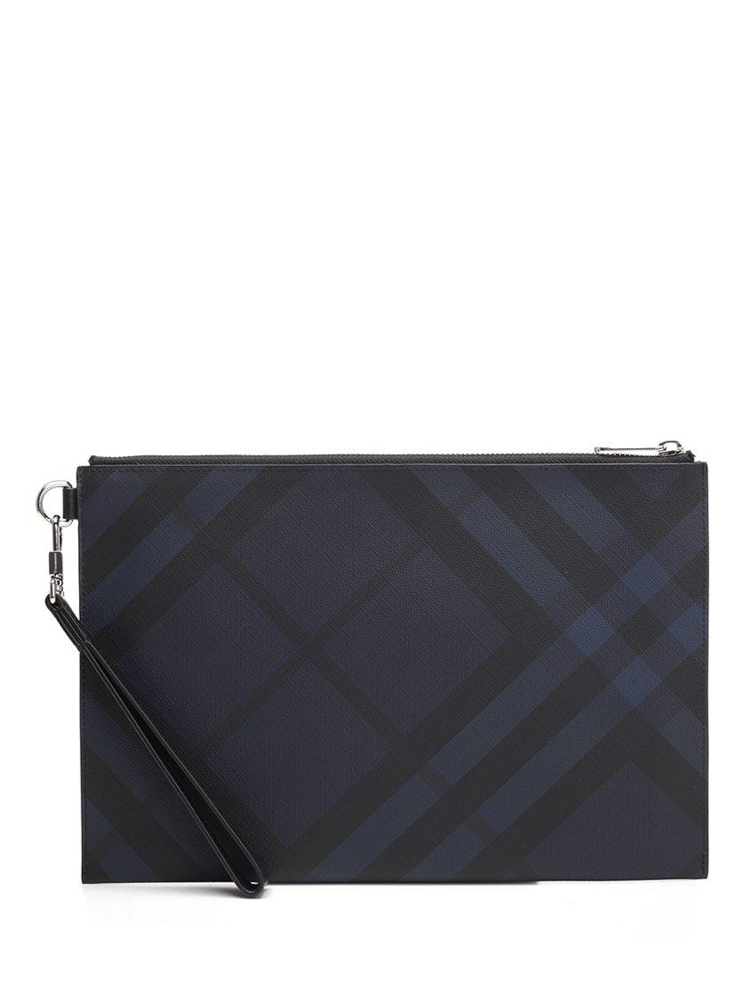 c38f0190c685 Burberry London Check Pouch in Blue - Lyst