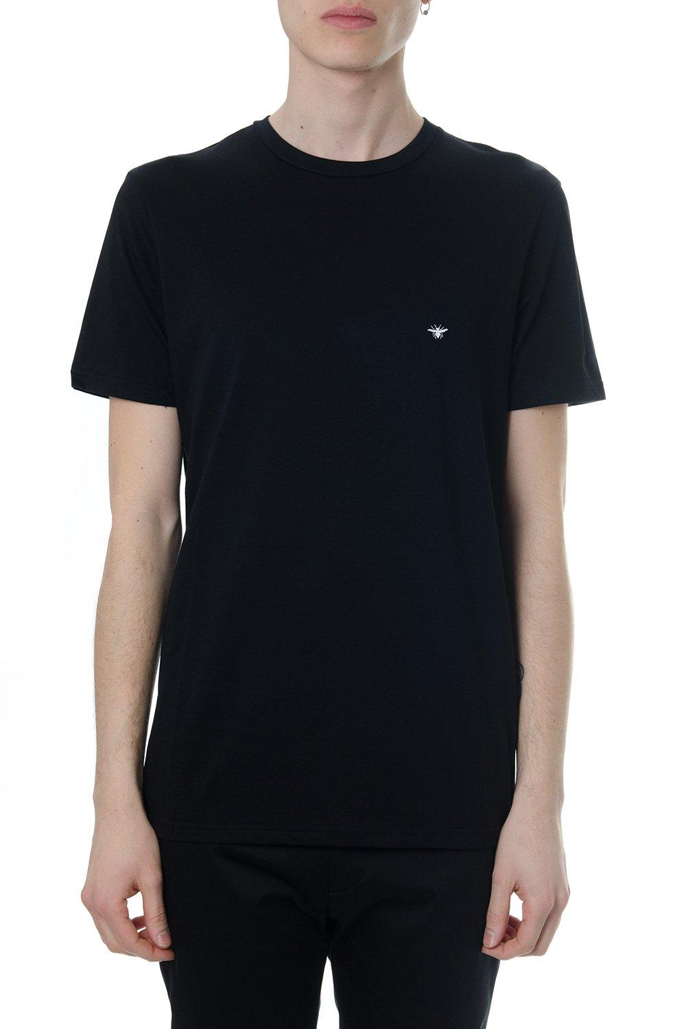 54a4362c Lyst - Dior Homme Bee Embroidered T-shirt in Black for Men