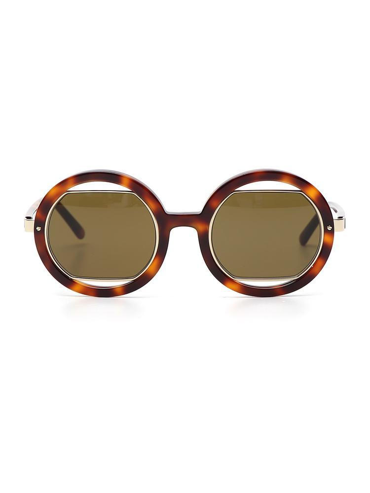 494a34d63e9 Lyst - Marni Oversize Round Sunglasses in Brown