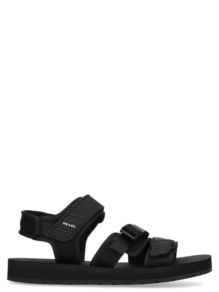 0052f65fdf1f10 Lyst - Prada Black Tech Sandals in Black for Men - Save 19%