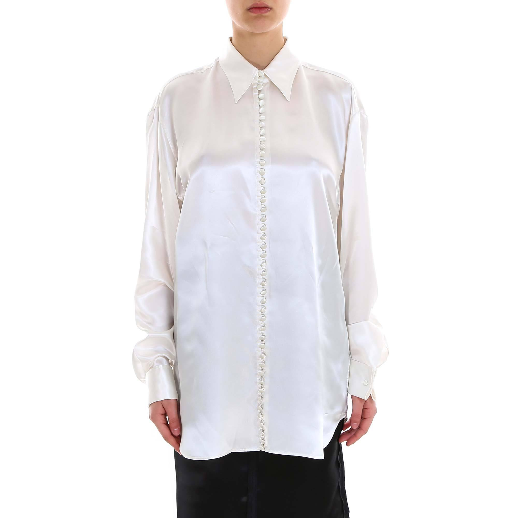 245ac64d Lyst - MM6 by Maison Martin Margiela Printed Oversized Shirt in White