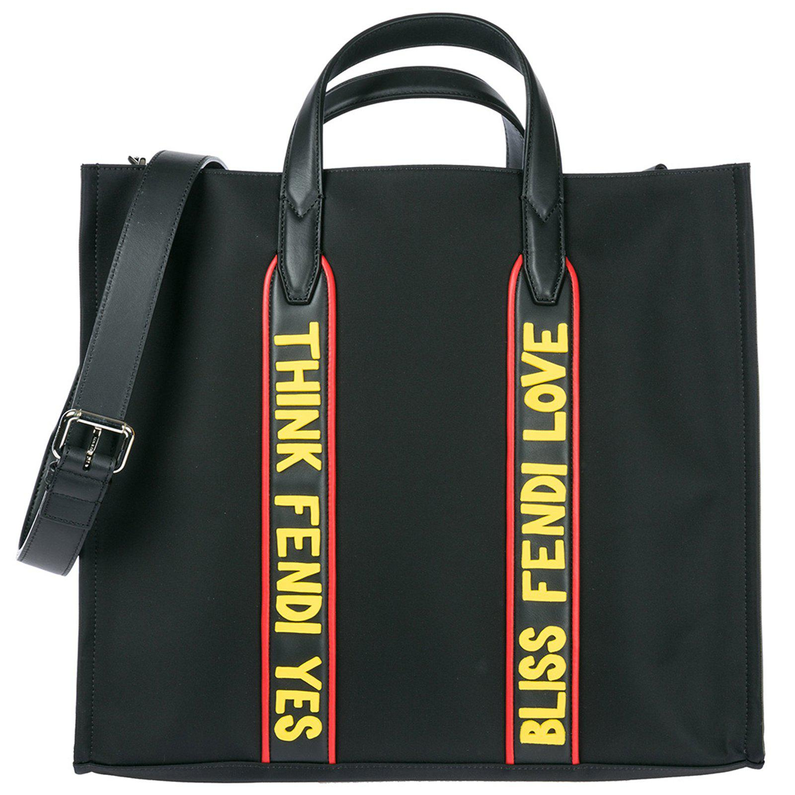 dface3630171 Lyst - Fendi Logo Tote Bag in Black for Men best website 7a91e ebc33 ...