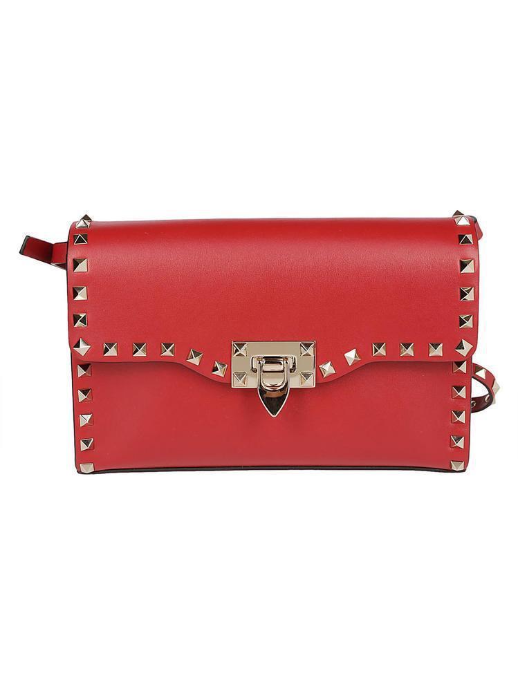 3e455514e72b Valentino Garavani Rockstud Crossbody Bag in Red - Lyst