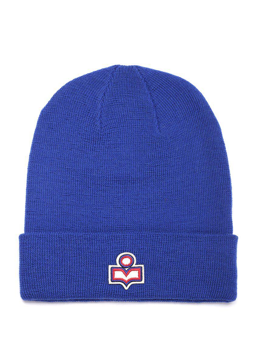 ff4f7f0f5c20 Lyst - Isabel Marant Logo Beanie in Blue