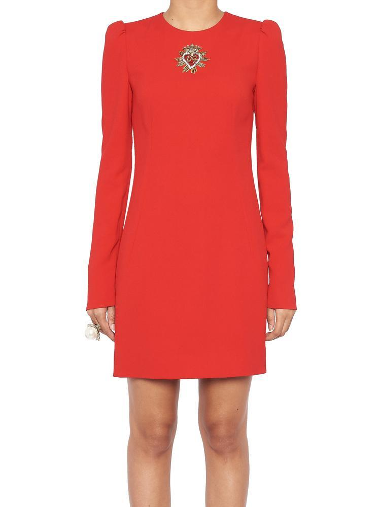 903414322379 Lyst - Dolce   Gabbana Sacred Heart Patch Dress in Red - Save 18%