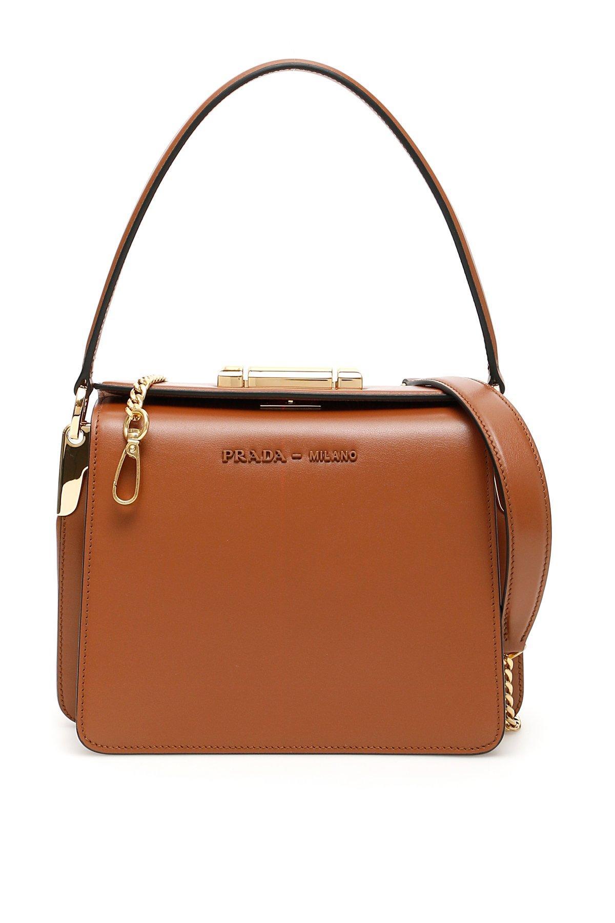 9fc31b86 Prada Sybille Top-handle Bag in Brown - Lyst