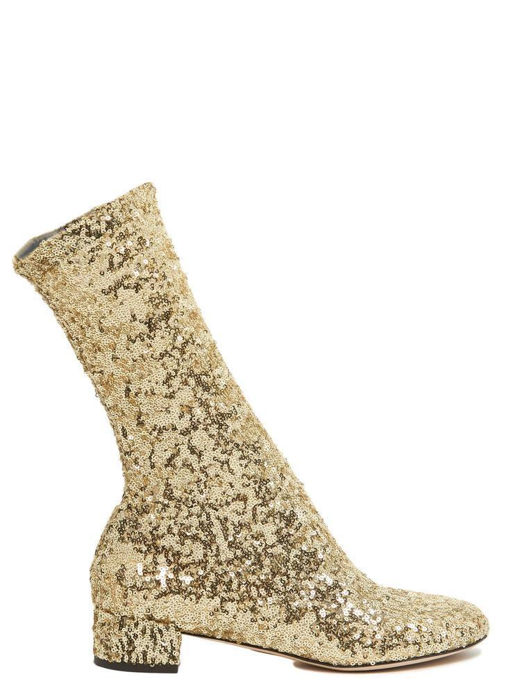 Dolce \u0026 Gabbana Leather Sequin Ankle