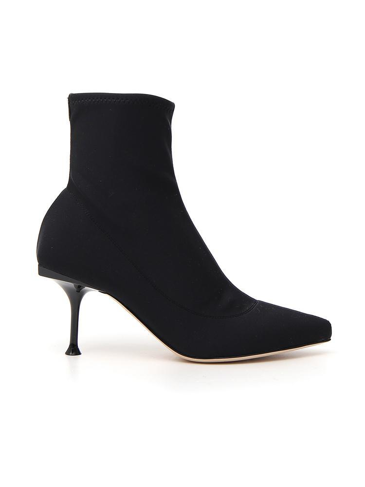 a091a9bda39 Lyst - Sergio Rossi Sock Boots in Black