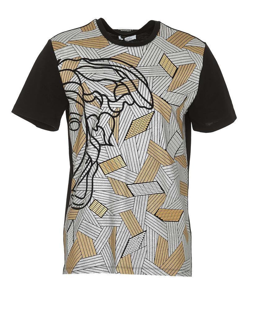 230e734c7 Versace Medusa Print T-shirt in Black for Men - Lyst