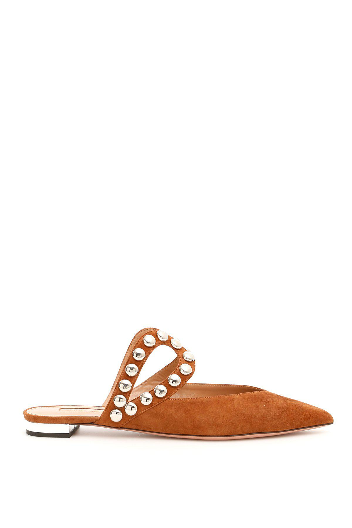 87390266109 Lyst - Aquazzura Dj Studded Mules in Orange