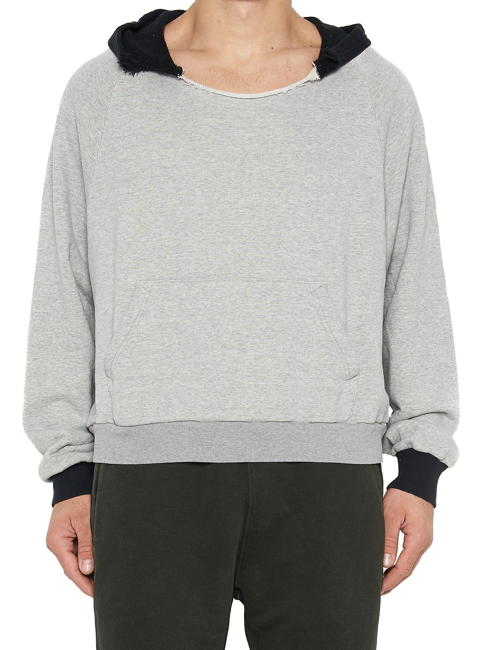 Lyst Yeezy Ripped Hoodie In Gray For Men