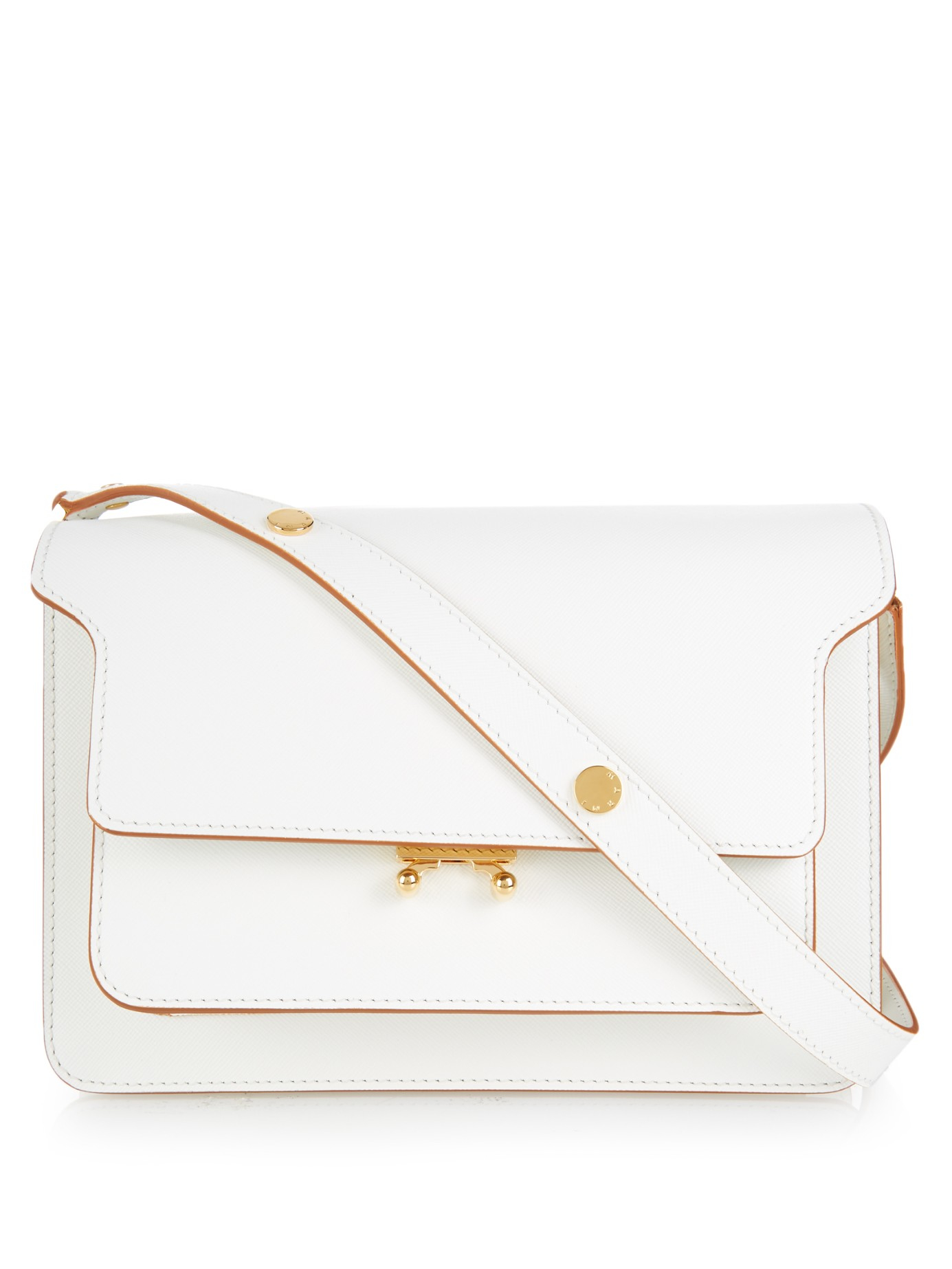 Trunk Micro Leather Shoulder Bag - White Marni CupYsBtN2