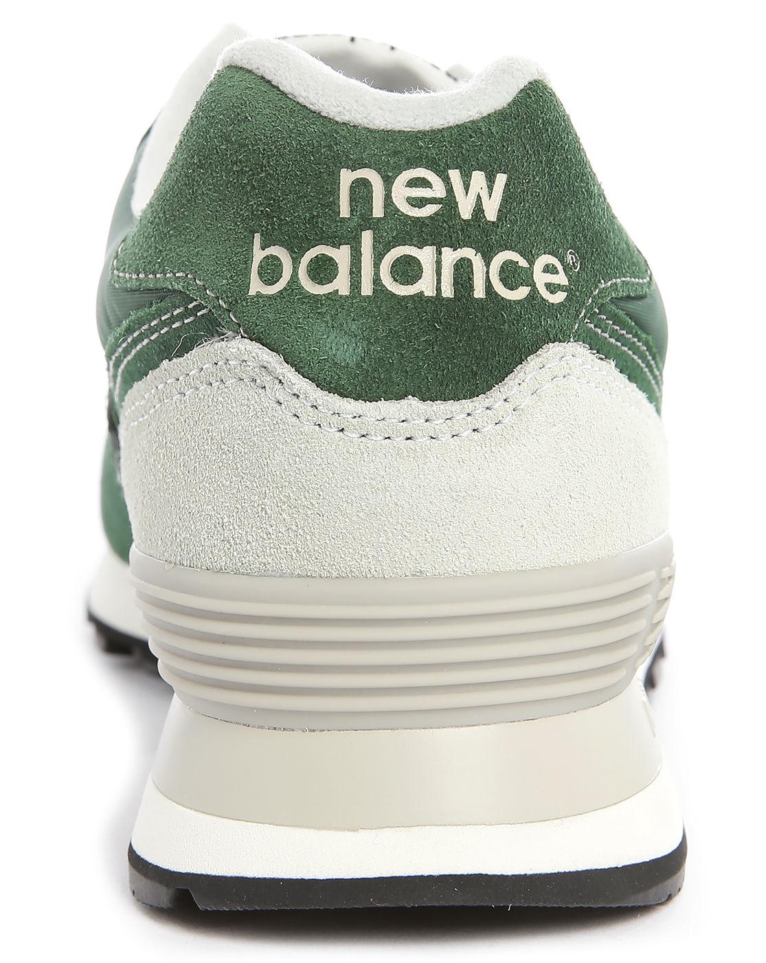 new balance 574 green suede handbag