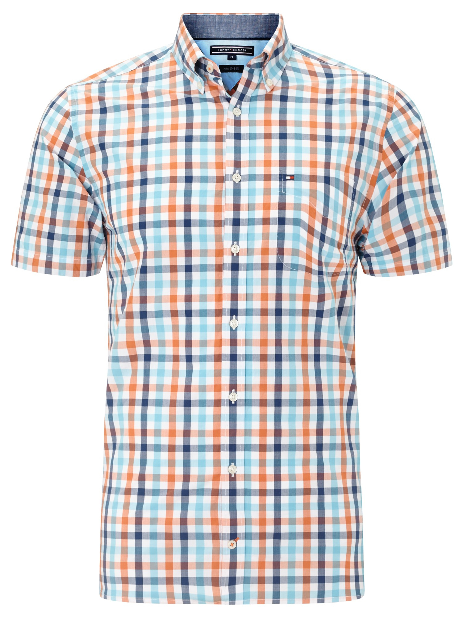 5af238aa Tommy Hilfiger Eddy Short Sleeve Check Shirt in Blue for Men - Lyst