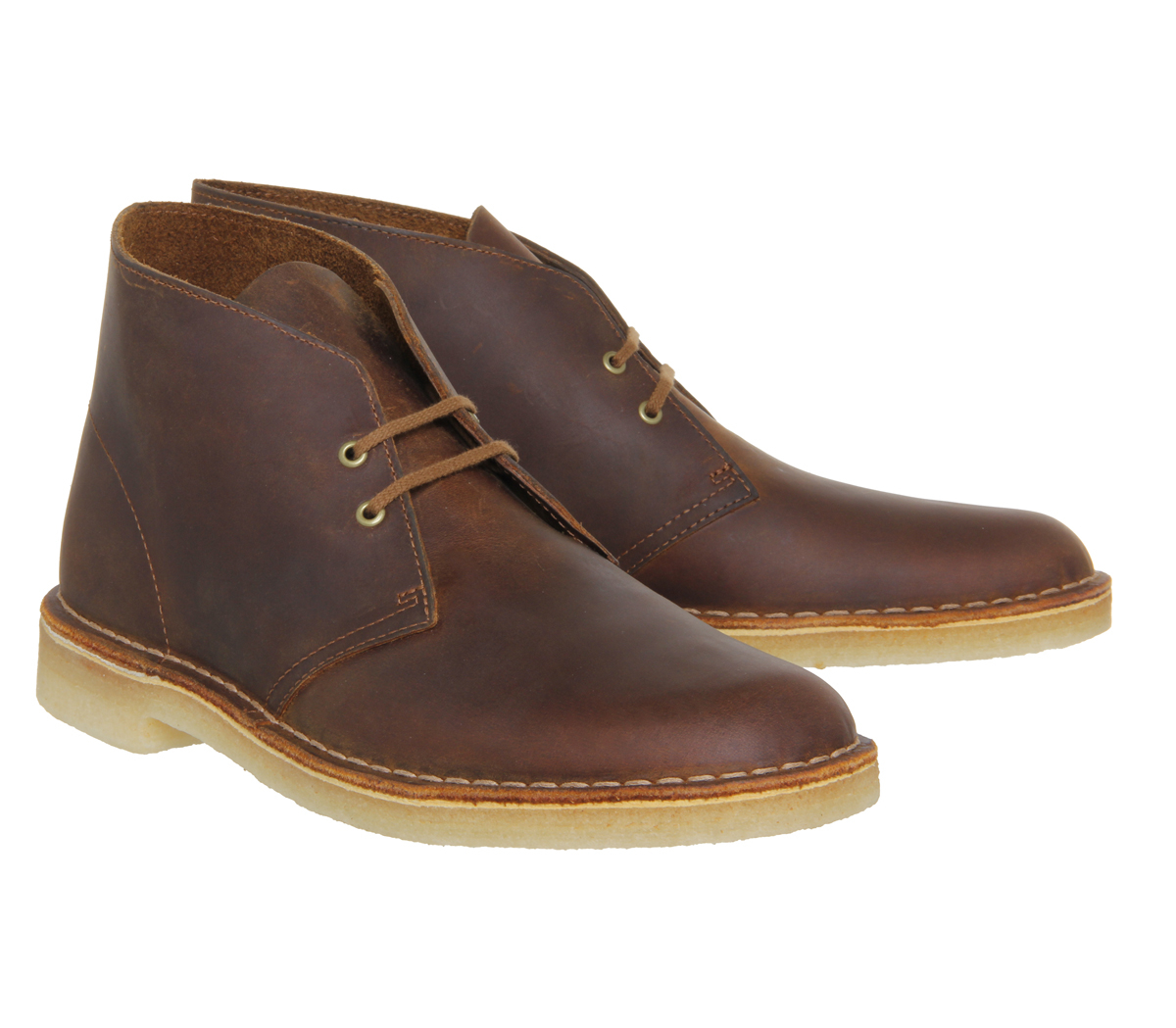 clarks desert boots in brown for lyst