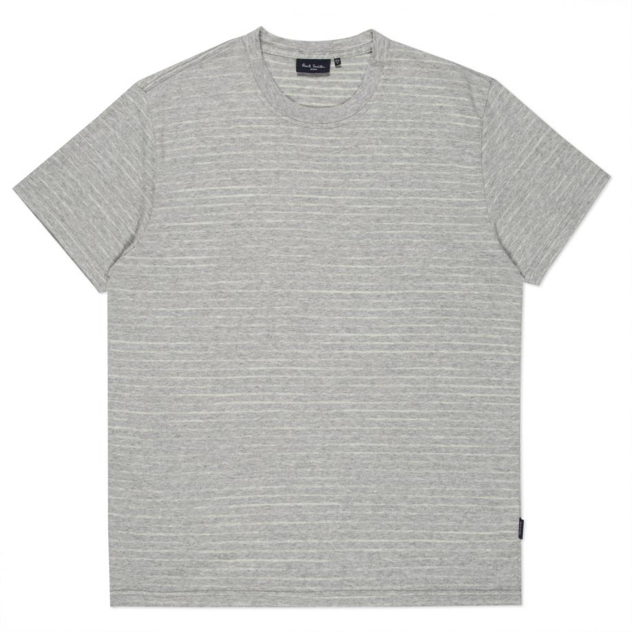 Paul smith men 39 s grey marl 39 faded stripe 39 print t shirt in for Faded color t shirts